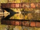 ancient railroad bridge, yahara river