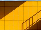 yellow tiles & blue line