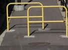 trail with yellow guard bars