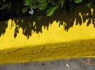 Yellow curb art