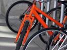 An orange bike