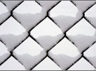snow on chain link